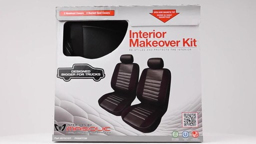 Masque Phantom Truck Black & Grey Seat Cover Set - image 10 from the video