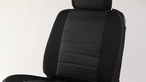 Masque Phantom Truck Black & Grey Seat Cover Set - image 3 from the video