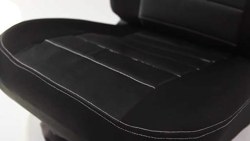 Masque Phantom Truck Black & Grey Seat Cover Set - image 5 from the video