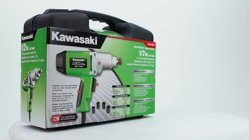 Kawasaki Heavy Duty 1'2 in Impact Wrench - image 8 from the video