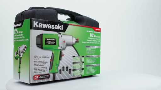 Kawasaki Heavy Duty 1'2 in Impact Wrench - image 9 from the video
