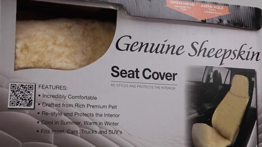 Masque High Back Tan Sheepskin Seat Cover - image 1 from the video