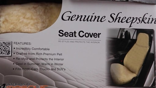 Masque High Back Tan Sheepskin Seat Cover - image 2 from the video