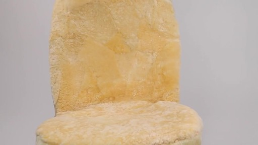 Masque High Back Tan Sheepskin Seat Cover - image 4 from the video