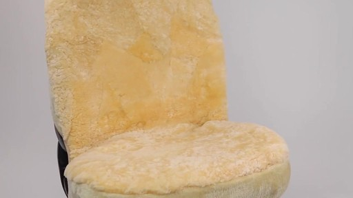 Masque High Back Tan Sheepskin Seat Cover - image 5 from the video