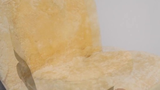 Masque High Back Tan Sheepskin Seat Cover - image 6 from the video