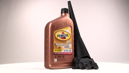 Pennzoil High Mileage Conventional Motor Oil  - image 10 from the video