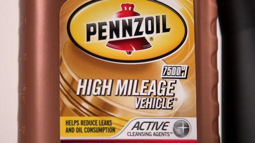 Pennzoil High Mileage Conventional Motor Oil  - image 2 from the video