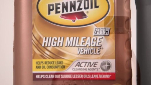 Pennzoil High Mileage Conventional Motor Oil  - image 3 from the video