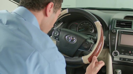 How to Install Steering Wheel Covers - image 5 from the video