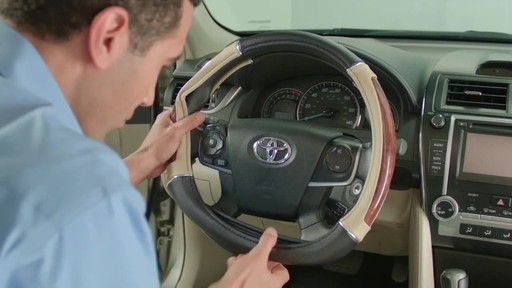 How to Install Steering Wheel Covers - image 6 from the video