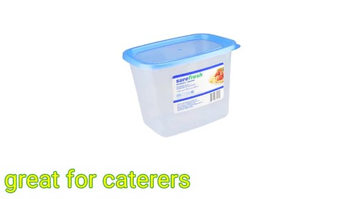 Case of Sure Fresh Large Square Plastic Food Storage Containers with