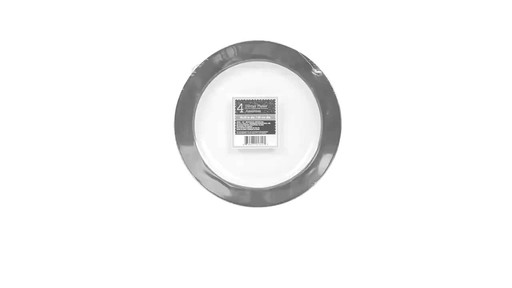 Case of Silver-Rimmed White Plastic Dinner Plates 10.25-in. 4  sc 1 st  Dollar Tree Video Gallery & Case of Silver-Rimmed White Plastic Dinner Plates 10.25-in. 4-ct ...