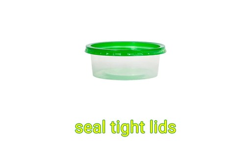 Case of Sure Fresh Small Round Storage Containers with Lids 5 ct