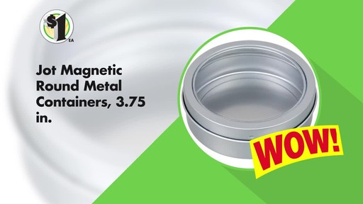 MAGNETIC ROUND METAL CONTAINERS