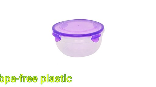 Case Of Sure Fresh Round Plastic Storage Bowls With Clip