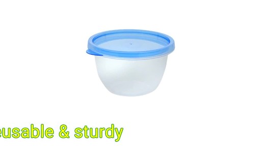 Case of 12 oz Sure Fresh Small Round Plastic Storage Containers 4
