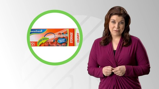Case of Sure Fresh Zipper Storage Bags, 20-ct. Boxes (48 units) - image 1 from the video