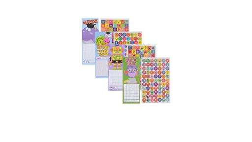 Classroom Decor Dollar Tree ~ Case of teaching tree incentive charts with stickers