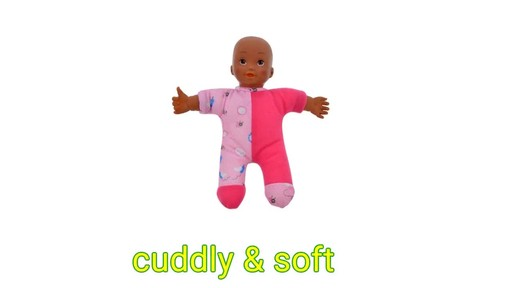 Case Of Plush African American Polyester Baby Dolls 9 In 20 Units