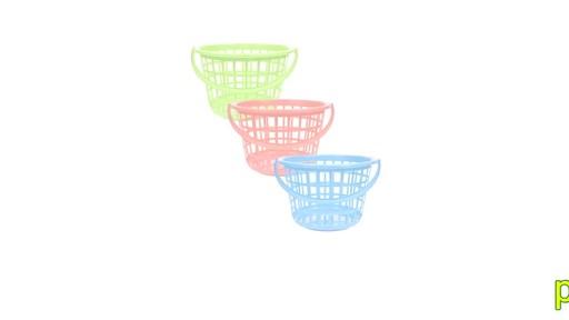 Case Of Round Plastic Storage Baskets With Handles 36