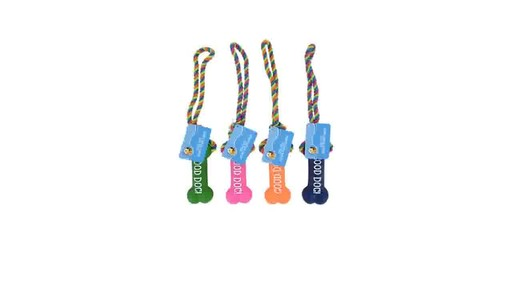 Case Of Bright Rope Vinyl Dog Toys 13 5 In 24 Units