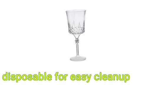 Case Of 10 Oz Elegant Plastic Wine Glasses 2 Ct Packs