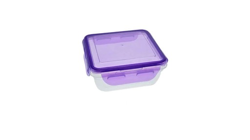 Case of Sure Fresh Square Storage Containers with Clip Lock Lids