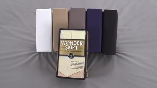 wonder skirt wrap around bed skirt » bed bath & beyond video