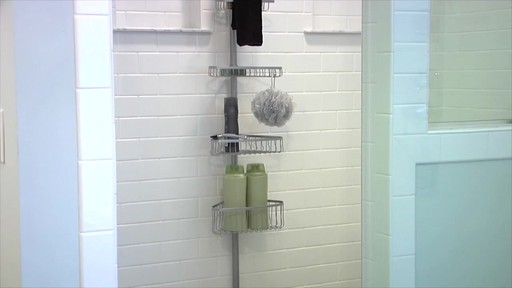 interdesign tension corner shower caddy image 1 from the video