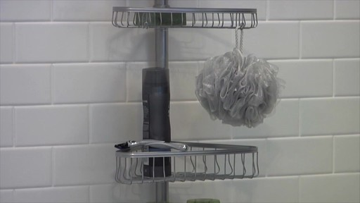 interdesign tension corner shower caddy image 10 from the video