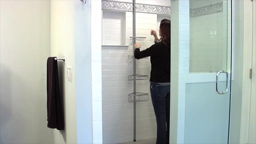 interdesign tension corner shower caddy image 9 from the video