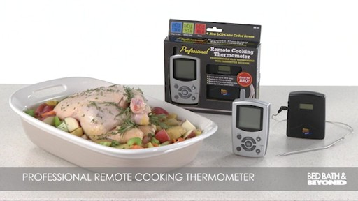Programmable Remote Digital Meat Cooking Thermometer 187 Bed