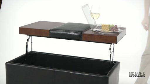 Lift-Top Storage Ottoman - image 6 from the video - Lift-Top Storage Ottoman » Bed Bath & Beyond Video