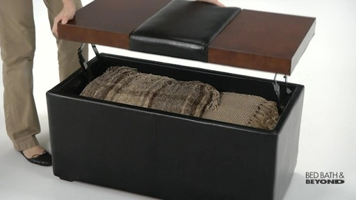 Lift-Top Storage Ottoman - image 8 from the video - Lift-Top Storage Ottoman » Bed Bath & Beyond Video