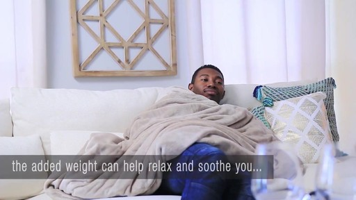 brookstone® weighted blanket » bed bath & beyond video