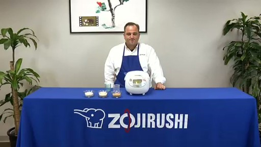 Zojirushi Neuro Fuzzy Rice Cooker & Warmer  NS-ZCC10 - image 10 from the video