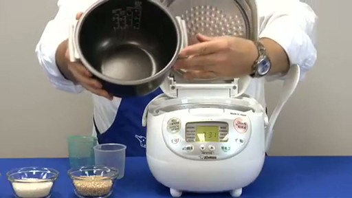 Zojirushi Neuro Fuzzy Rice Cooker & Warmer  NS-ZCC10 - image 5 from the video