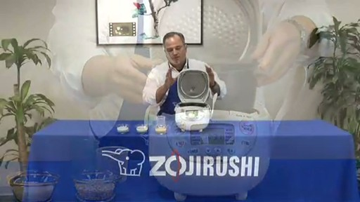 Zojirushi Neuro Fuzzy Rice Cooker & Warmer  NS-ZCC10 - image 6 from the video