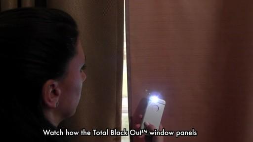 Total Blackout Window Curtain Panels » Bed Bath & Beyond Video