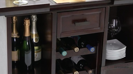 Tuscan Expandable Wine Bar 187 Bed Bath Amp Beyond Video