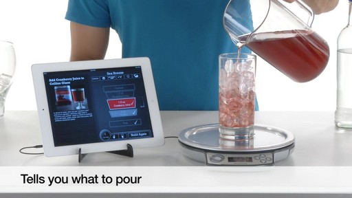 Brookstone perfect drink app controlled smart bartending for Perfect bake bluetooth