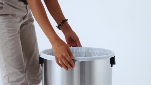 simplehuman® Brushed Stainless Steel Bullet Open 80-Liter Trash Can - image 1 from the video