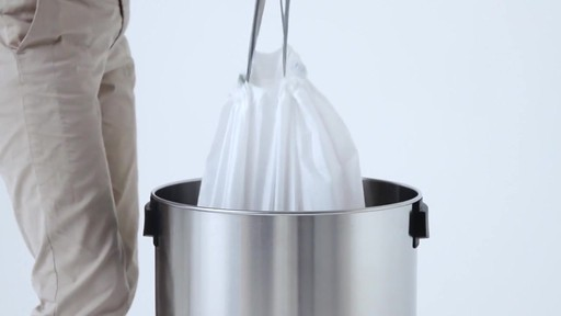 simplehuman® Brushed Stainless Steel Bullet Open 80-Liter Trash Can - image 2 from the video