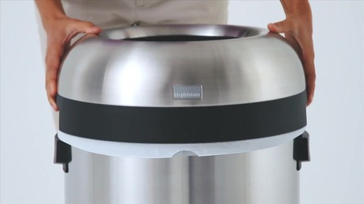 simplehuman® Brushed Stainless Steel Bullet Open 80-Liter Trash Can - image 3 from the video