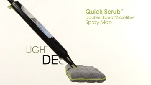 Casabella Quick Scrub Double Sided Microfiber Spray Mop