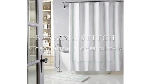 wamsutta baratta stitch micro cotton shower curtain image 1 from the video