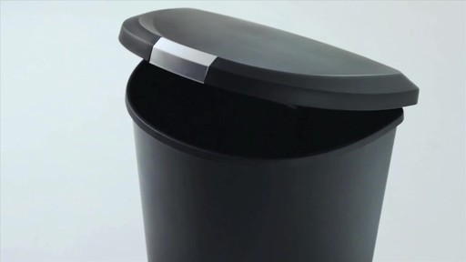 simplehuman® Plastic Semi-Round 50-Liter Step-On Trash Can - image 1 from the video