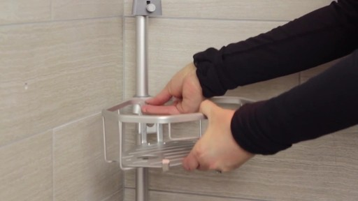 TITAN™ NeverRust® Corner Pole Shower Caddy - image 8 from the video