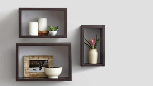 real simple decorative shelves bed bath beyond video